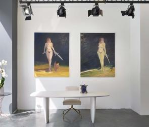 Installation view of gallery artist