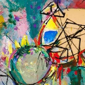 Detail of painting by Hans Hofmann