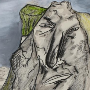 Detail of untitled painting by Gunnar Örn.