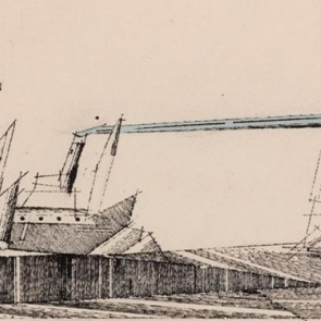 Detail of Two Steamers by Lyonel Feininger