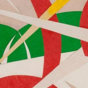 Detail of a work by Giacomo Balla