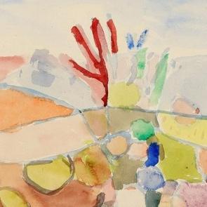 Detail of painting by Paul Klee