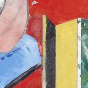 Detail of a painting by R.B. Kitaj