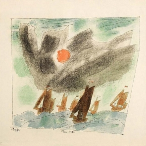 Fishing Fleet by Lyonel Feininger