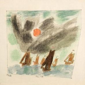 Fishing Fleet by Lyonel Feininger