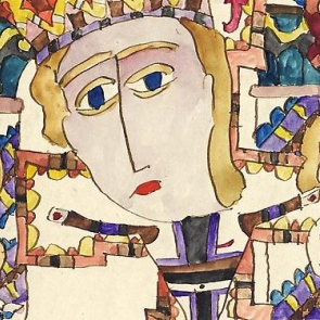 Detail of a work by Paul Goesch