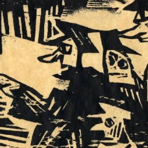 Detail of a woodcut by Lyonel Feininger