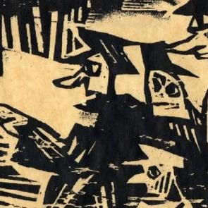 Detail of a woodcut by Lyonel Feininger