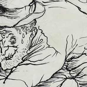 Detail from a drawing by George Grosz