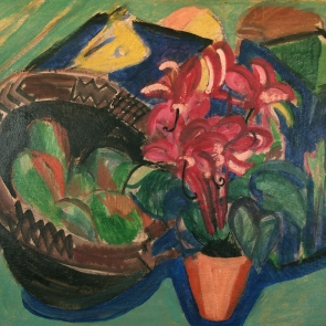 Still Life with Fruit Basket by Ernst Ludwig Kirchner