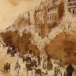 Detail from a work by Camille Pissarro