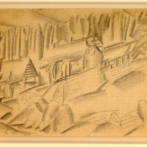 Landscape with Houses by Lyonel Feininger