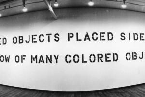 Lawrence Weiner: 3 Works Concerning Color Presented for sale