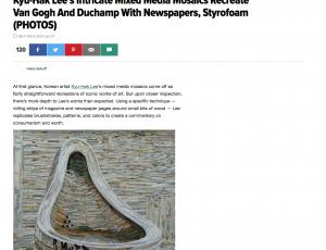 Kyu-Hak Lee's Intricate Mixed Media Mosaics Recreate Van Gogh And Duchamp With Newspapers, Styrofoam