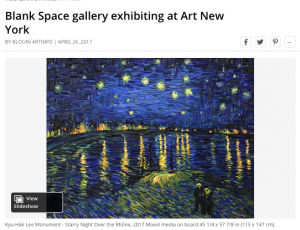 Blank Space gallery exhibiting at Art New York