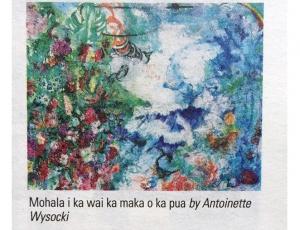 """""""Mohala i ka wai ka maka o ka pua"""" by Antoinette Wysocki"""