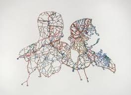 Nikki Rosato's Cut-Out Map Portraits