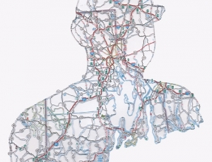Discarded maps are given a new direction in the hands of artist Nikki Rosato