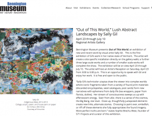 Bennington Museum: Out of This World - Lush Abstract Landscapes by Sally Gil