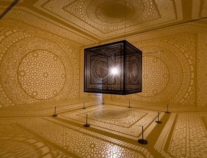 Anila Quayyum Agha on Display at Peabody Essex Museum, Salem MA