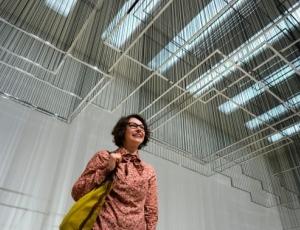 Nadia Kaabi-Linke and Mohammed Kazem at the Guggenheim Museum, New York