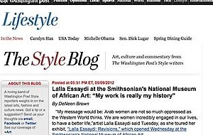 Lalla Essaydi interviewed by The Washington Post Lifestyle section