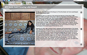 The School of the Museum of Fine Arts will honor Lalla Essaydi