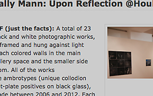 """DLK Collection sees Sally Mann's """"Upon Reflection"""" as a pivotal moment in her career"""