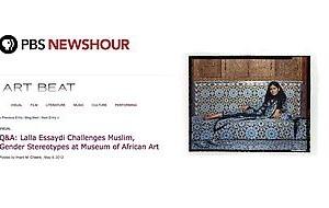 Lalla Essaydi interviewed by PBS NewsHour