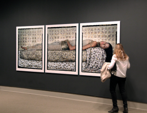 """Lalla Essaydi's """"Bullets Revisited #3"""" in The Washington Post"""