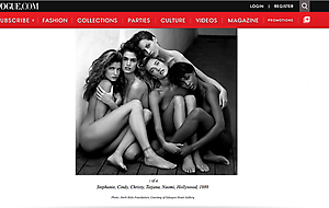 Herb Ritts exhibition in VOGUE