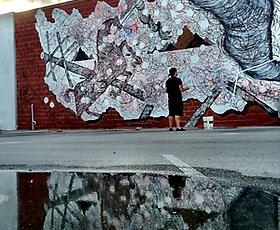 Andrew Schoultz's New Mural in Miami's Wynwood District   Presented by The Fountainhead Residency and Primary Flight