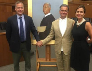 Bo Bartlett paints portrait of former U.S. District Court Judge Ricardo Urbina