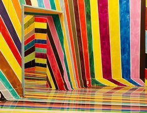 Markus Linnenbrink: This Vibrant Rainbow Room Is An Optical Illusion That Can Swallow You Up by Priscilla Frank
