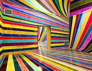 Markus Linnenbrink Places Viewers Within A Psychedelic Color Canvas by Nina Azzarello