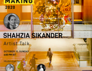 Artist talk by Shahzia Sikander moderated by Phalguni Guliani and Saloni Doshi