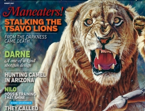 Sporting Classics Magazine features the Man Eaters of Tsavo by John Banovich