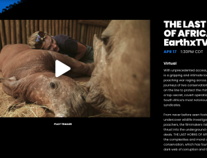 The Last Horns of Africa Debuts at the EarthX Film Festival