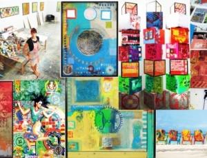 ARUBA NIGHTS publications... artist ELISA LEJUEZ showcase-art-basel-miami