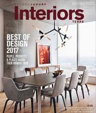 Modern Luxury Interiors Texas, Winter/Spring 2017