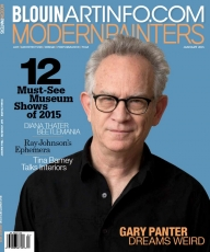 Gary Panter on the January 2015 cover of Modern Painters