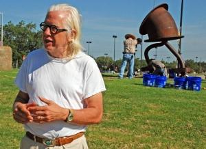 Traveling Otterness sculpture 'Makin' Hay' installed at Wichita State University