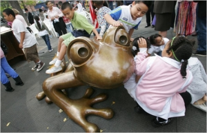 Ribbet … Ribbet … a 6-Foot Frog to Play With