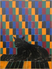 Joan Brown, Wolf in Room, 1974.