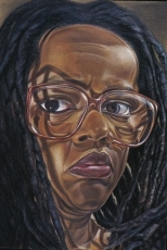 Diane Edison, Self Portrait with Glasses, 1997
