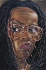 Diane Edison, Self Portrait with Glasses, 1997