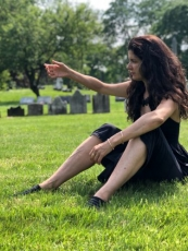 """Janine Antoni's """"I am fertile ground"""" at Green-Wood Cemetery Catacombs"""
