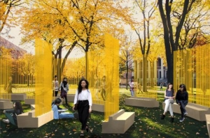 "Teresita Fernández in ""Autumn (...Nothing Personal)"" at the Harvard Yard"