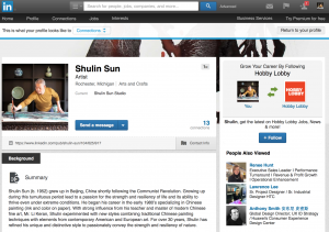 Shulin Sun LinkedIn Page Launched