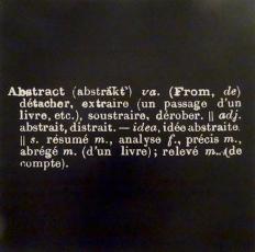 Joseph Kosuth in Du Verbe à la Communication